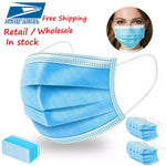 3 Ply Non-woven face mask usa stock disposable face mask - MomProStore