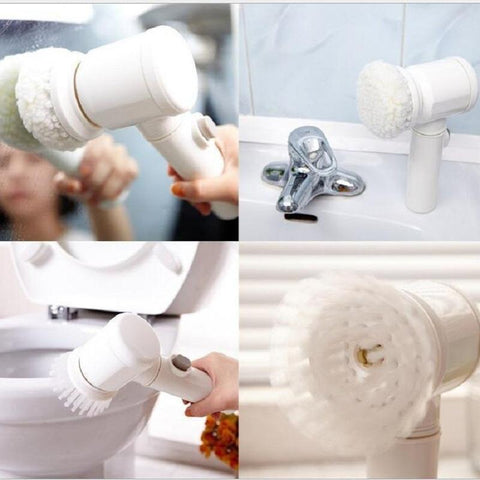 Cordless Handheld Electric Cleaning Brush for Bathroom Tile and Tub Kitchen