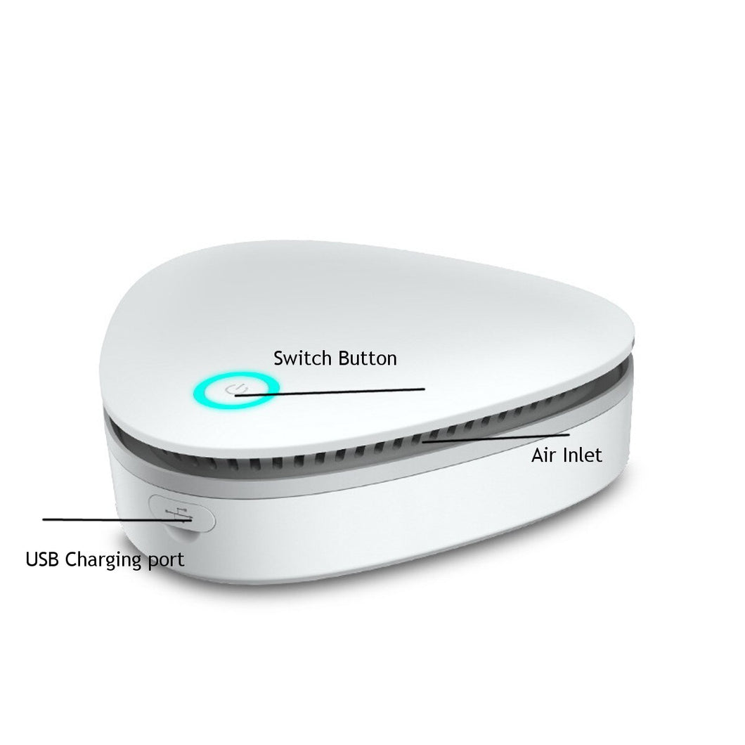 USB Portable Mini Ozone Air Purifier for Car Refrigerator Closets Pet - MomProStore