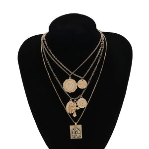 Multi Layer Pendant Choker Necklaces Pendant - MomProStore