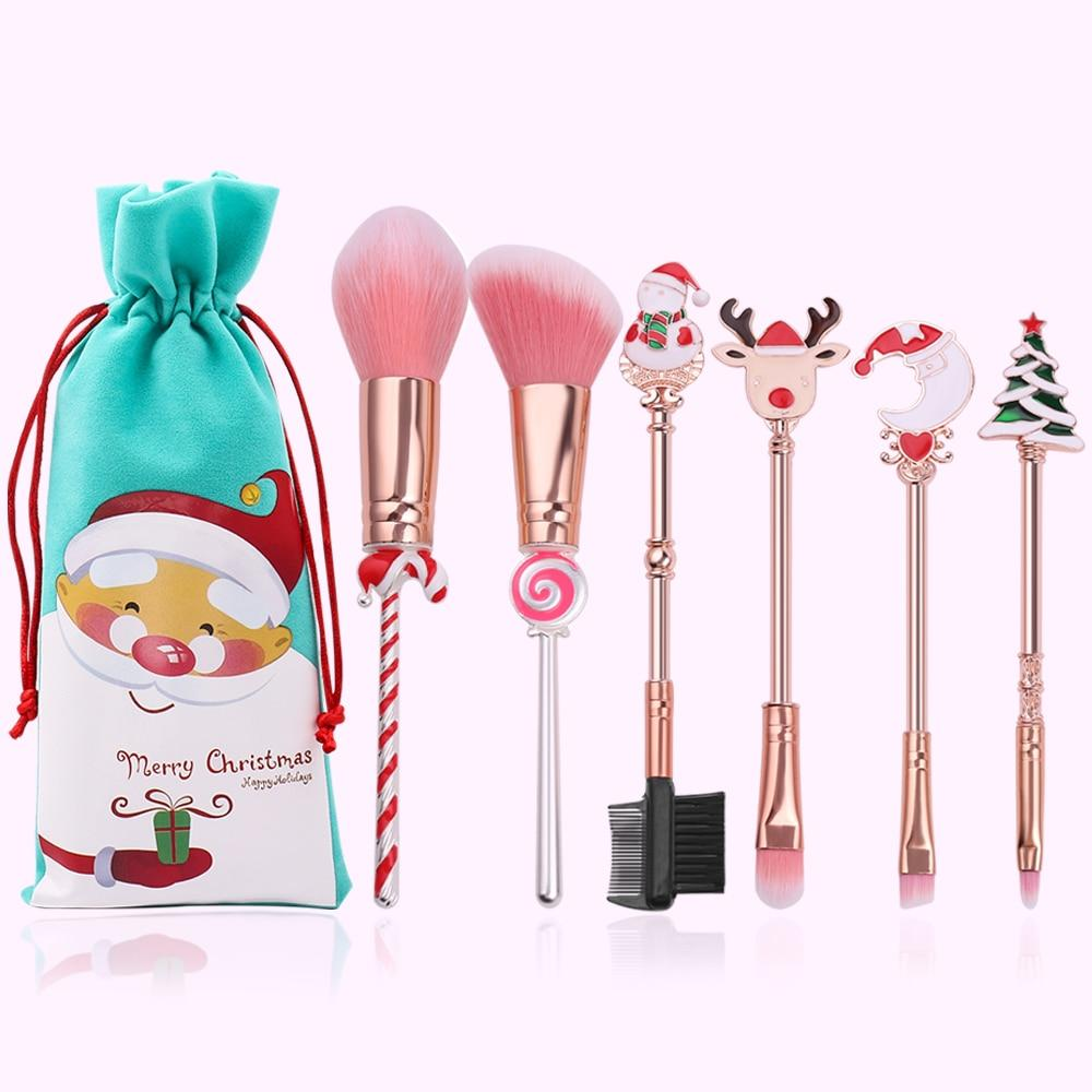 2019 Santa Christmas Makeup Brushes Set - MomProStore