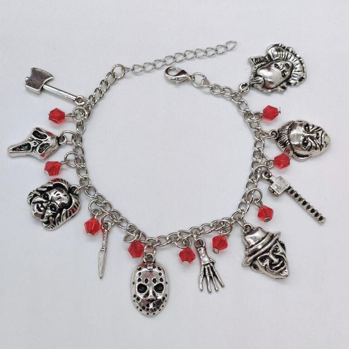 Sam Doll Trick or Treat Saw Horror charm bracelet