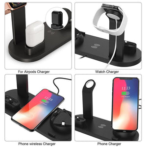 Qi Fast Charger 4 in 1 Wireless Charging Dock Station For Apple Watch iPhone AirPods - MomProStore