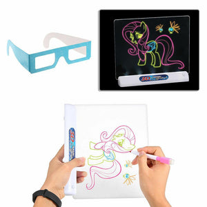 3D Drawing Tablet illuminated Writing Board for Kids
