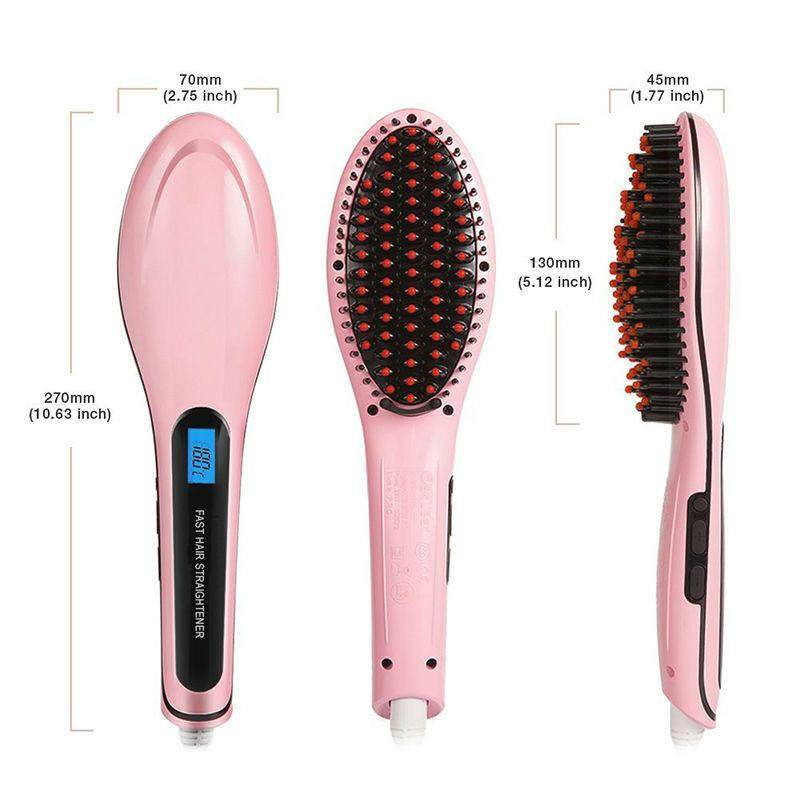 LCD Electric 2-IN-1 Hair Straightening Brush - MomProStore