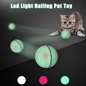 Led USB Smart Rolling Ball Pet Toy For Cats & Dogs - MomProStore