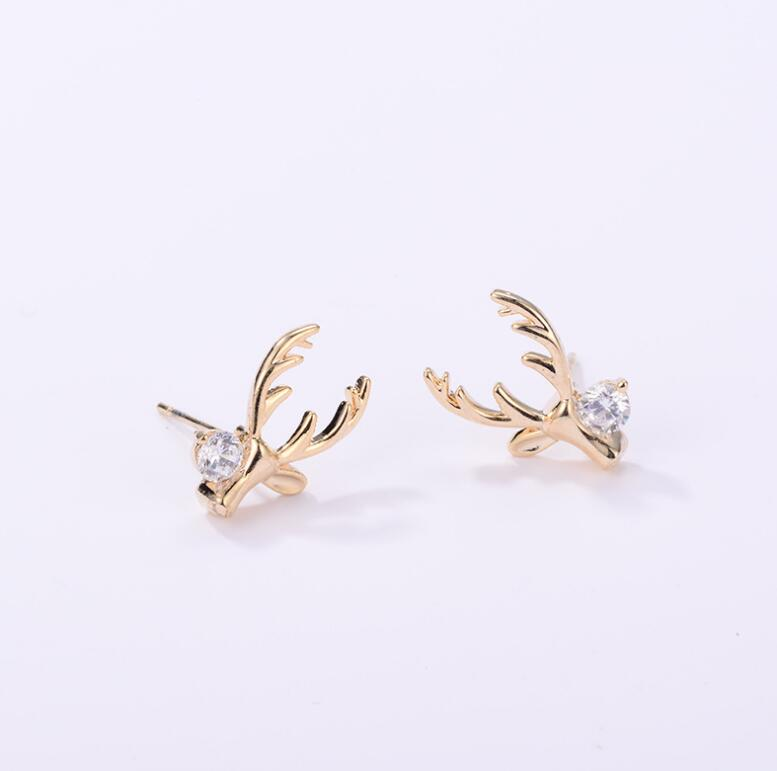 Christmas Earrings Elk Ear Studs