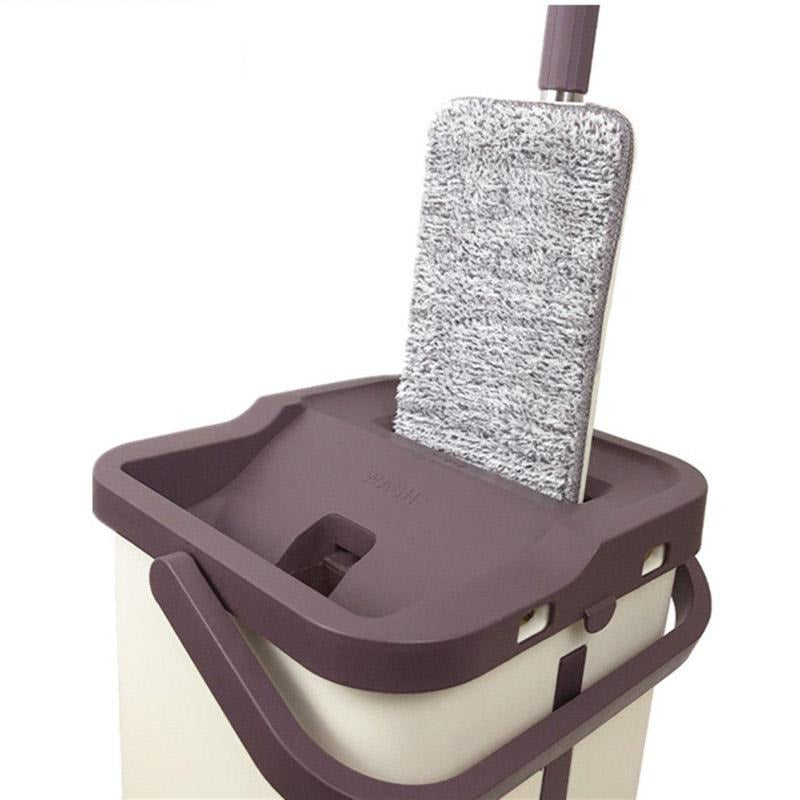 Magic Cleaner  Hard Floor Lazy Mop Bucket Wash-Drying System