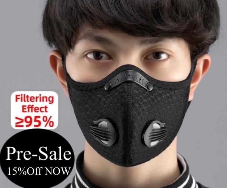 Cycling Face Mask Filter Breathable Anti Dust in stock - MomProStore