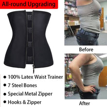 Load image into Gallery viewer, Korsett Body Shaper Latex Taille Trainer Slimming Belt - MomProStore