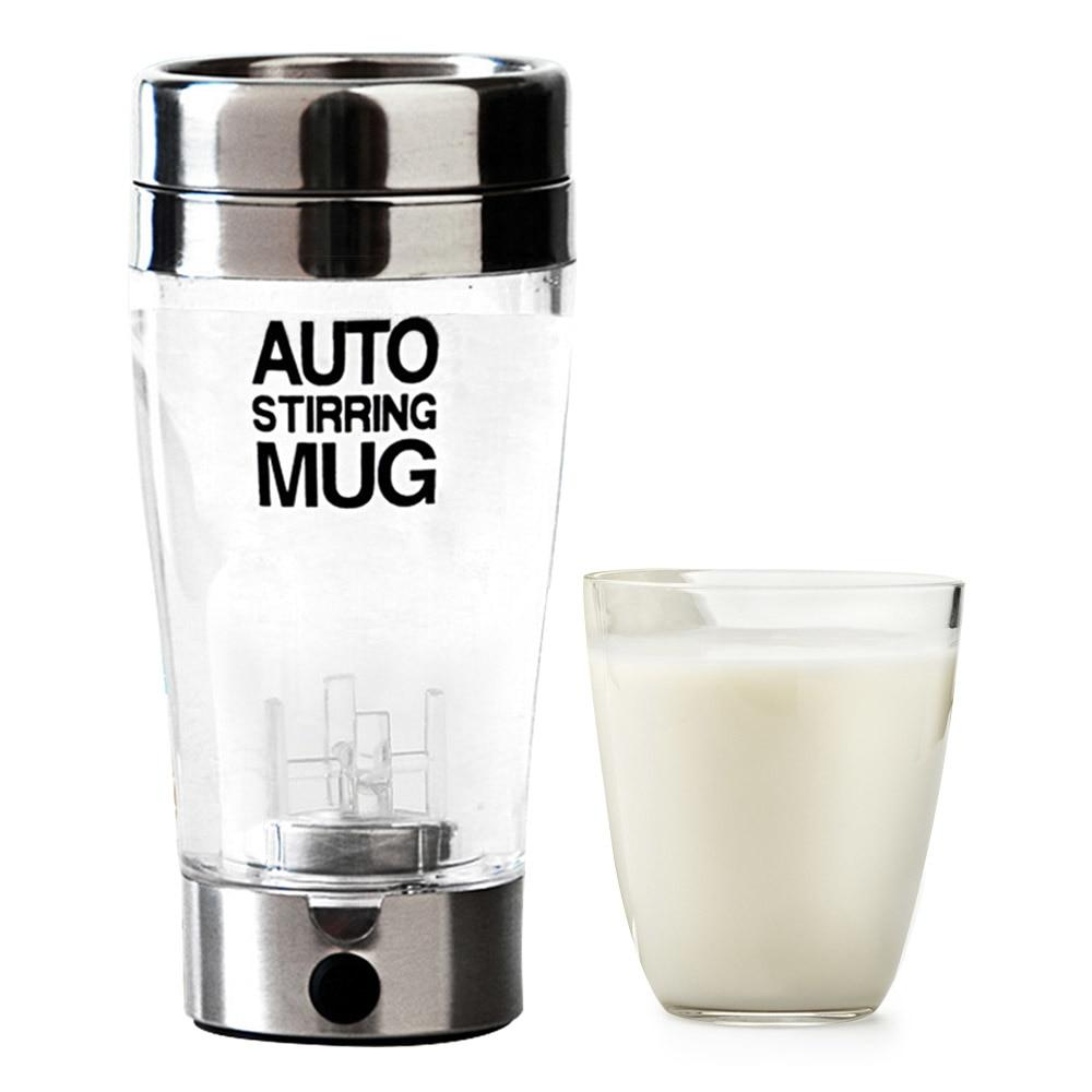 Electric Protein Shaker Blender Coffee Milk Mixer Mug