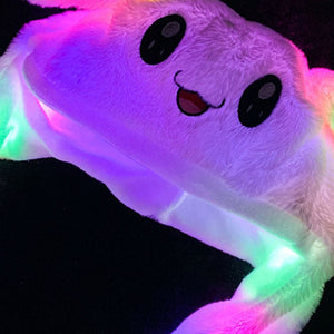 Funny Lighting Hat Cute Rabbit Ears Plush Ears