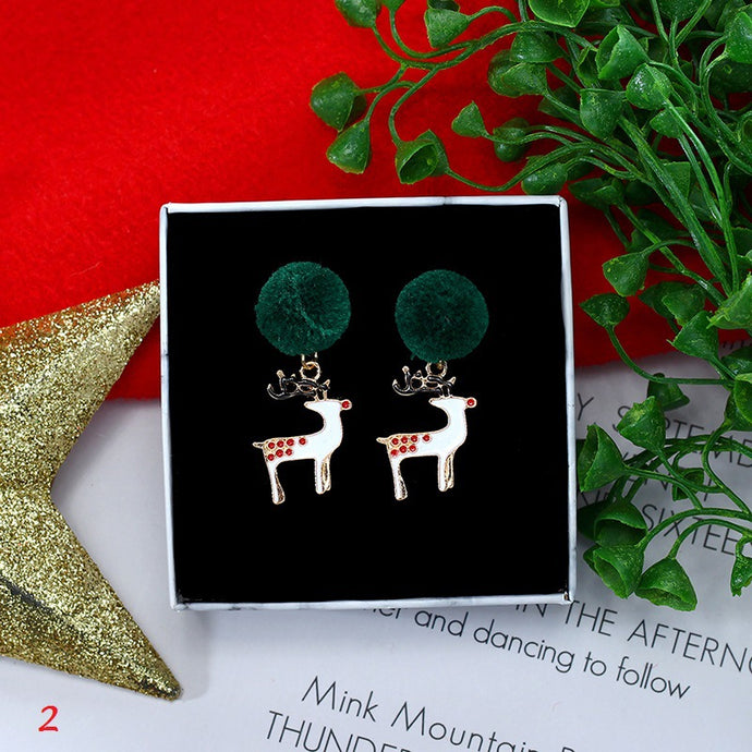 Christmas Old Man Snowflake Earrings