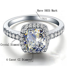 Load image into Gallery viewer, Bridal Wedding Ring 925 Sterling Silver Rings - MomProStore