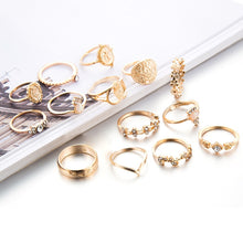 Load image into Gallery viewer, Tocona 15 Pcs/set Boho Virgin Mary Gold Rings