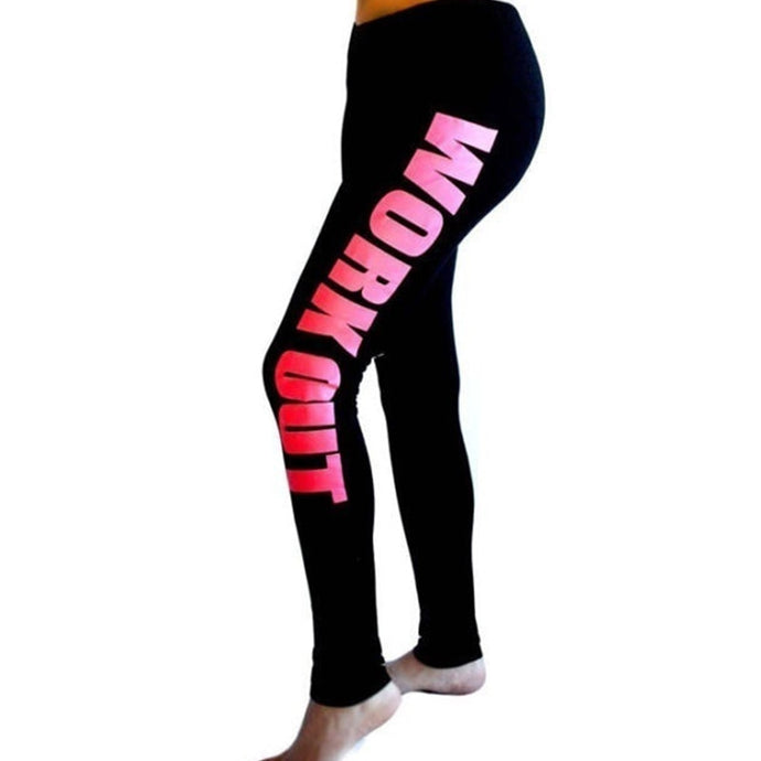 Yoga Fitness Sport Leggings Work Out printed Elastic Waist - MomProStore