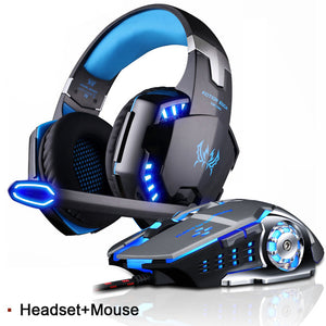 PS4 Best LED Gaming Headset Deep Bass Stereo with Microphone Noise Cancellation - MomProStore