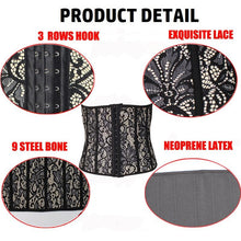 Load image into Gallery viewer, Lace Waist Trainer Shapewear Slimming Body Shaper Cincher - MomProStore