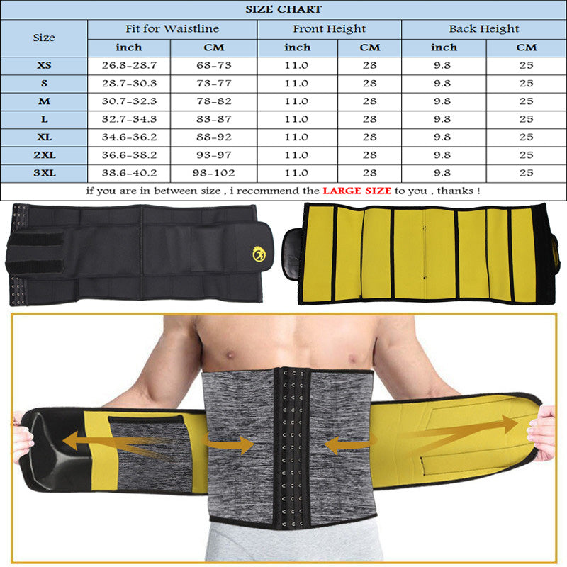 Neoprene Sauna Slimming Underwear for Men Waist Trainer Modeling Belt - MomProStore