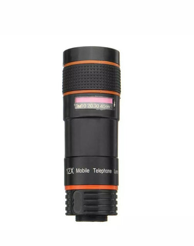 12x Optical Zoom Lens Telescope Telephoto Clip on for Mobile Cell Phone Camera - MomProStore