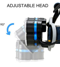 Load image into Gallery viewer, 250000LM 6X Led Headlamp Rechargeable Headlight FlashLight Lamp