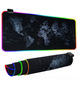 "RGB Extra Large Gaming Mousepad WorldWide Map 31.5""X 12"""