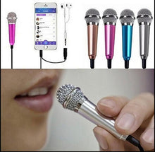 Load image into Gallery viewer, Portable 3.5mm Stereo Studio Mic KTV Karaoke Mini Microphone For Cell Phone