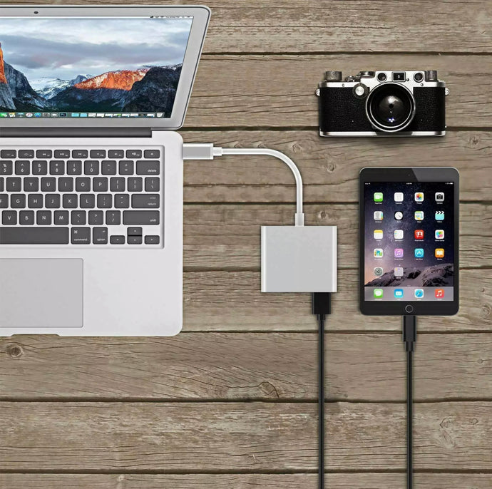 Type C USB 3.1 to USB-C 4K HDMI USB 3.0 Adapter 3 in 1 Hub For Android Device, Macbook Pro