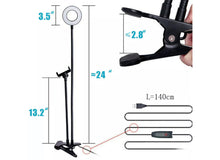 Load image into Gallery viewer, Led Selfie Ring Light With Holder Flexible Stand Long Arm Lamp For Live Stream