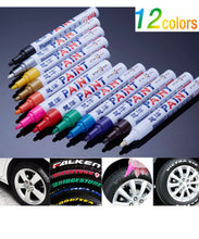 Load image into Gallery viewer, 12x Permanent Waterproof Marker Paint Pen for Tire Tyre Car Glass Rubber