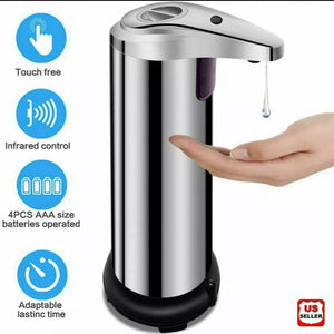 Automatic Touchless Soap Dispenser 280ml Stainless Steel