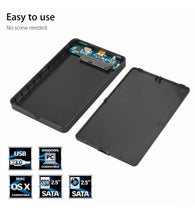 Load image into Gallery viewer, External Portable Hard Disk CASE USB 3.0 2TB SATA SSD Desktop Mobile