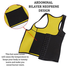 Load image into Gallery viewer, Vest Tummy Neoprene Waist Trainer Corset Slimming Tummy Belly - MomProStore