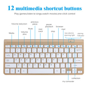 Mini Portable Wireless Keyboard & Mouse for Mac Notebook TV box 2.4G