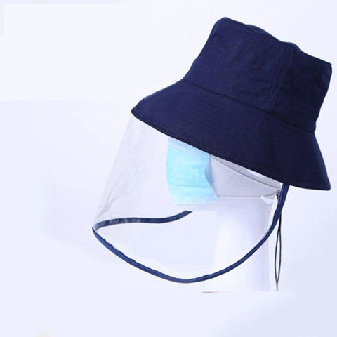 Anti Droplet Hat spitting Protection Bucket Hat with Cover Pvc Mask