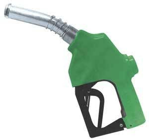 "7H-0100 OPW NOZZLE, 1"" GREEN FUEL SER"