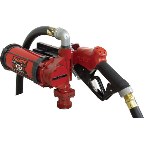NX3210B FILL-RITE 12 VOLT 25 GPM CONTINUOUS DUTY HIGH FLOW W/NOZZLE