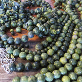 The Rare and Beautiful Serpentine and Stichtite Bead Necklaces