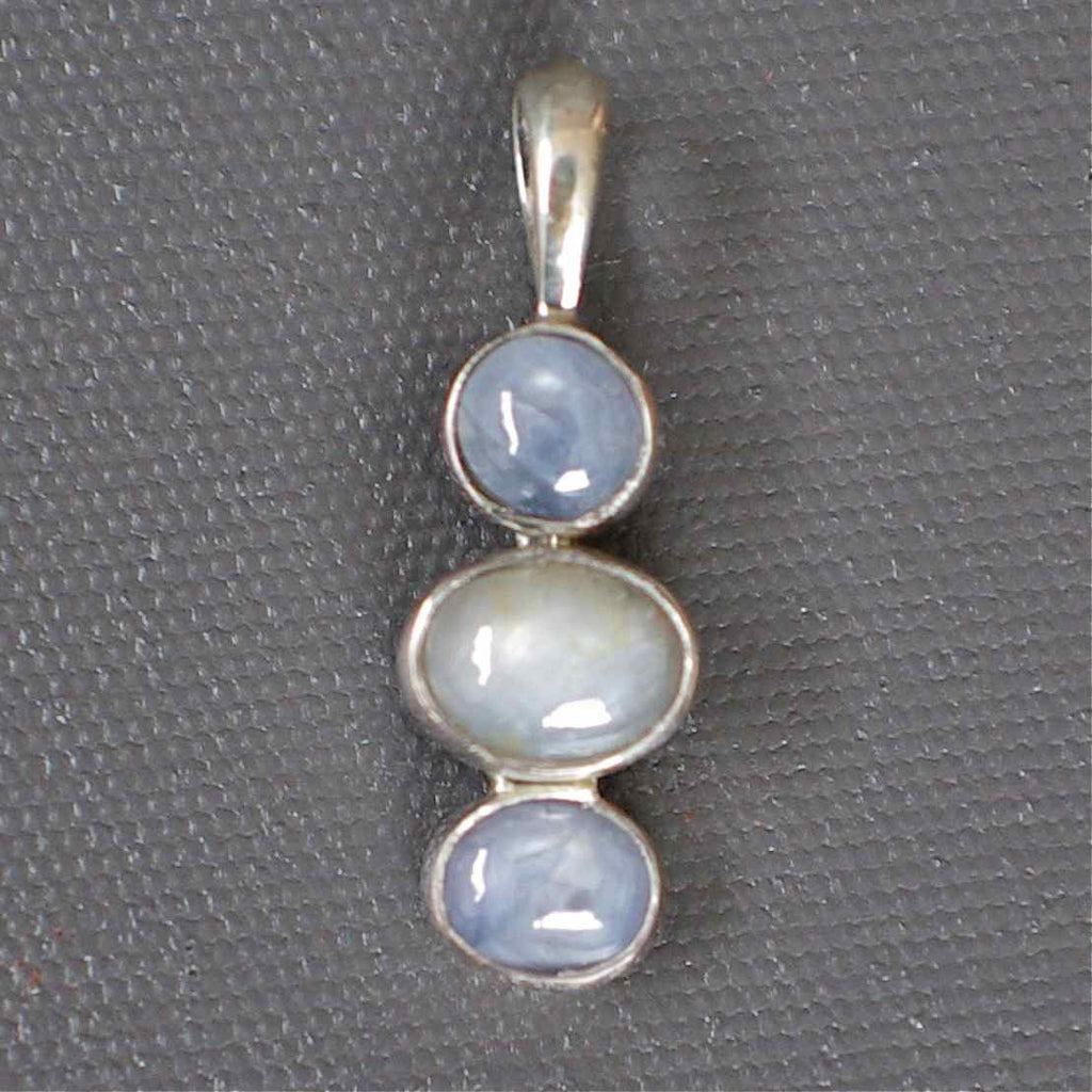 Star Sapphire and Silver Pendant