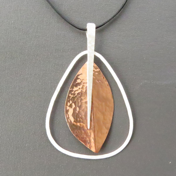 sterling silver and copper pendant for sale