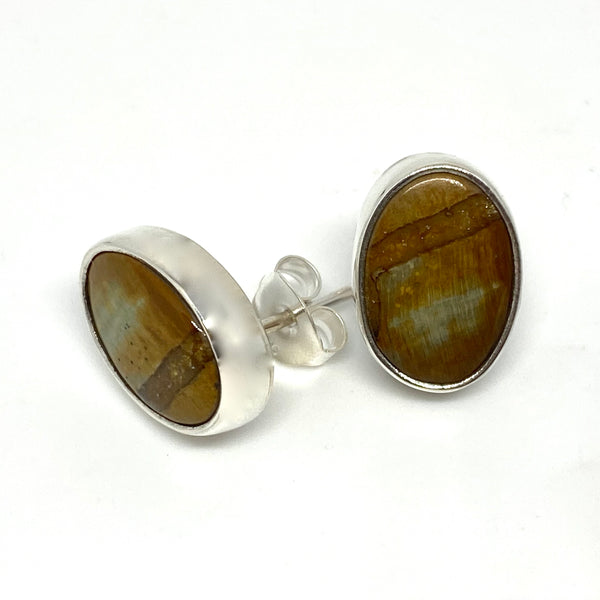Fossil Wood Earrings