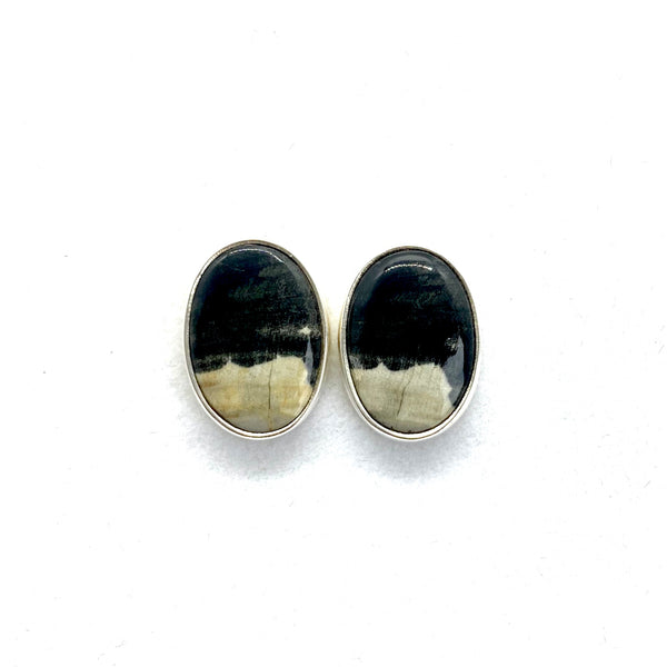 East Coast Fossil Wood Earrings