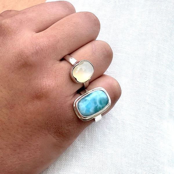 Larimar Ring by Rare and Beautiful
