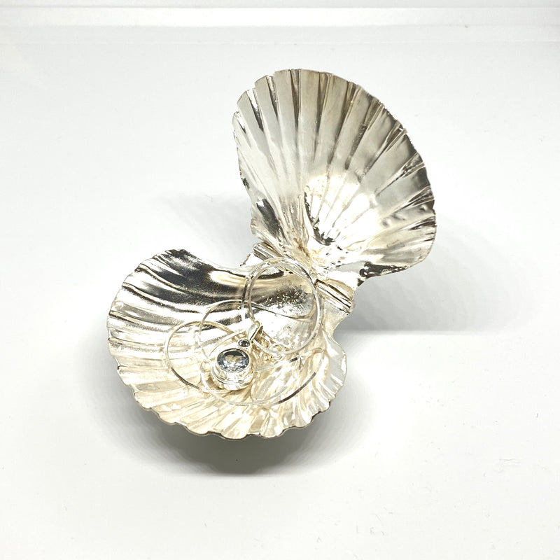 Solid Sterling Silver Scallop Box