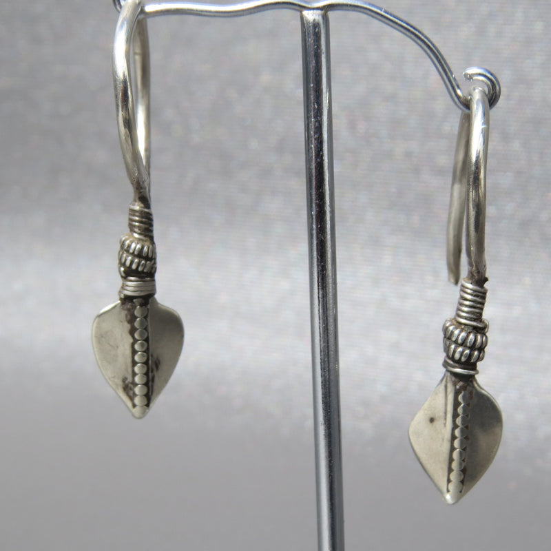 Antique Silver Hmong Earrings