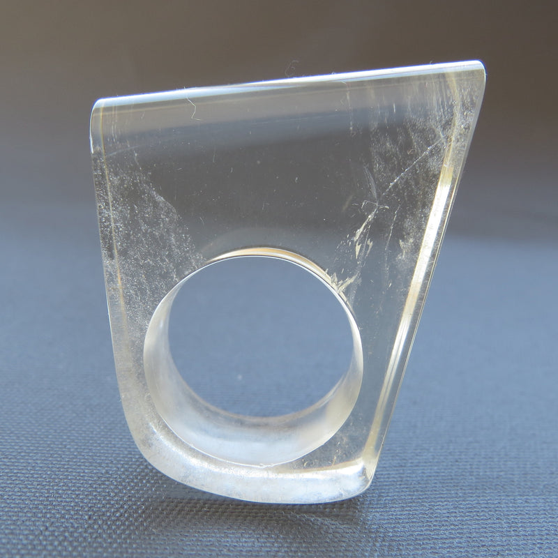 Clear Quartz Ring made by The Rare and Beautiful