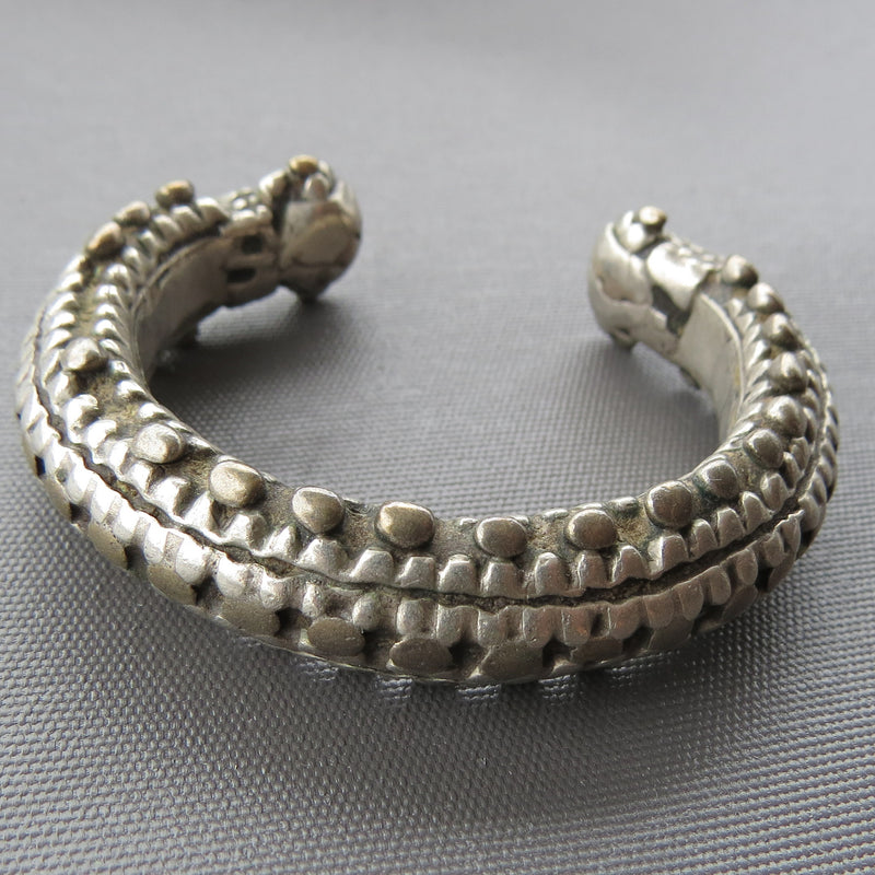 Antique Tribal Silver Cuff