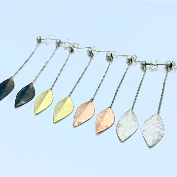 Floating Leaf Earrings
