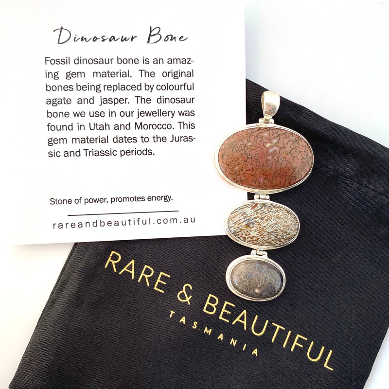 Jewellery by Rare and Beautiful that includes fossils