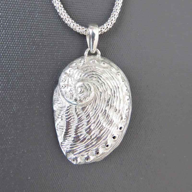 Sterling silver Tasmanian Abalone shell pendant